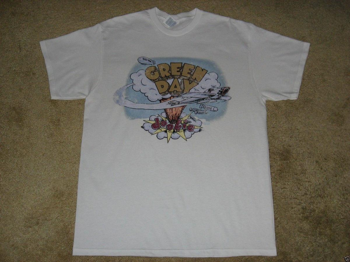 136d089ed9f Compre New Green Day Dookie Vintage Talla S, M, L, XL, 2XL Camiseta Blanca  A $12.67 Del Lusi02 | DHgate.Com