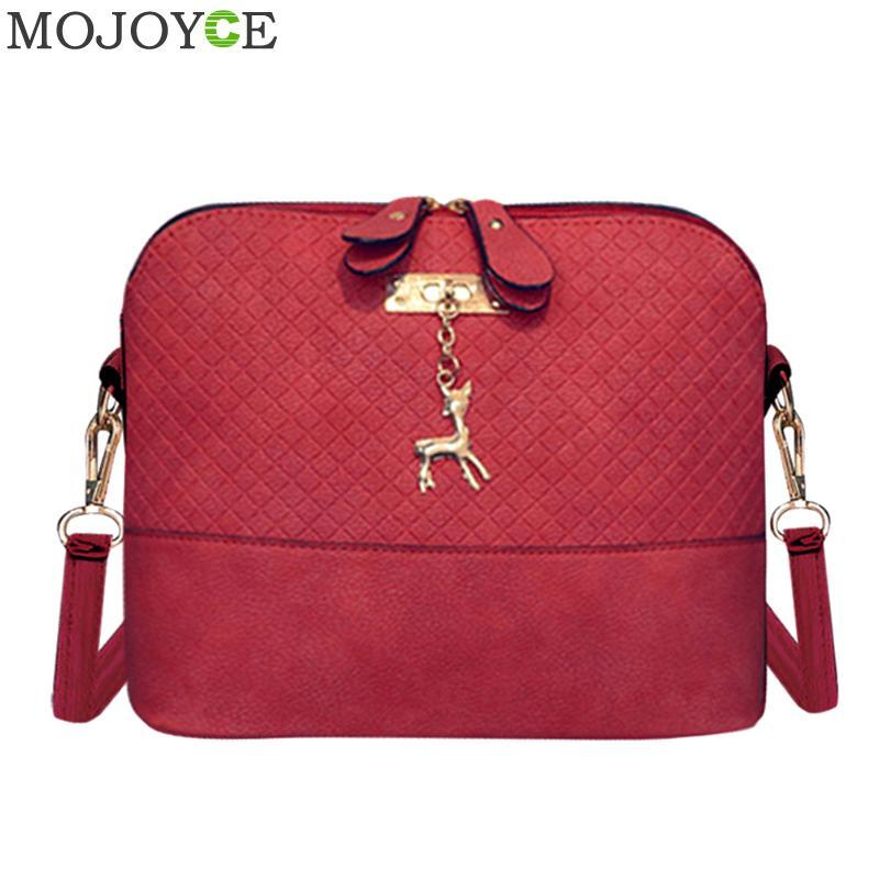Women Fashion Crossbody Bag PU Leather Shoulder Bag With Deer Pendant Messenger  Bags Female Soft Messenger Bags Handbag Blosa Cheap Designer Handbags Black  ... fc88793035f45