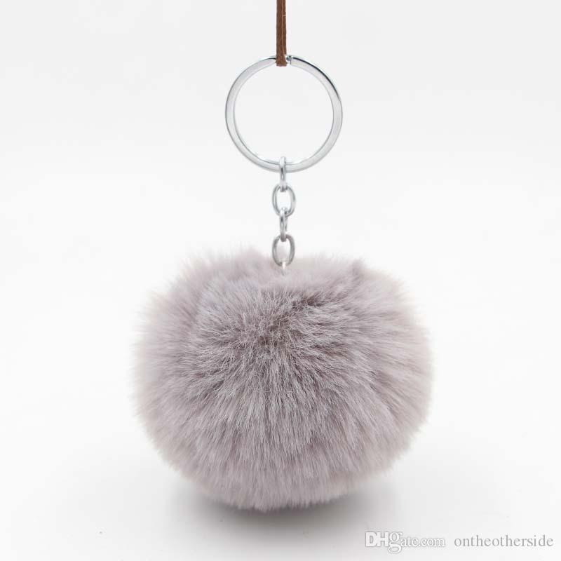Women S Faux Fur Ball Keychain Fluffy Rex Rabbit Pom Pom Keychain Holder  Women Bag Keyring Charms Pendant Handbag Llaveros Keychains Custom Lanyards  From ... b9bb76a29