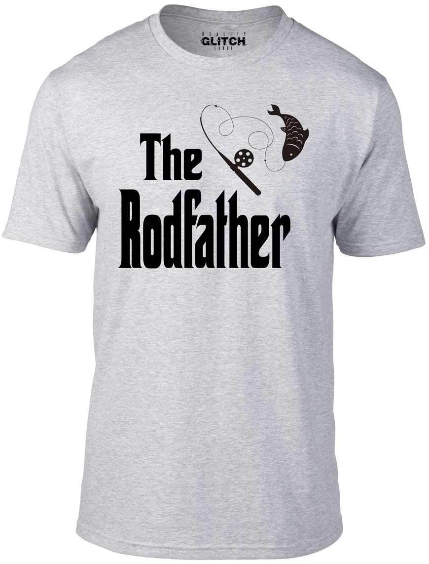 015f31003 The Rodfather T Shirt Funny T Shirt Fishing Dad Gift Rod Gangster Fish Reel  Cool Casual Pride T Shirt Men Unisex Novelty Tee Shirts Awesome Shirt  Designs ...