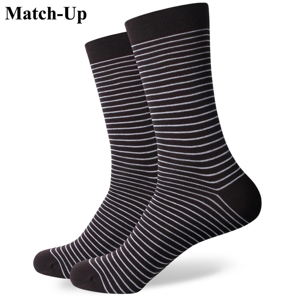 2bfdfd61425 New Style Colorful Stripe Men s Combed Cotton Business Socks Brand ...
