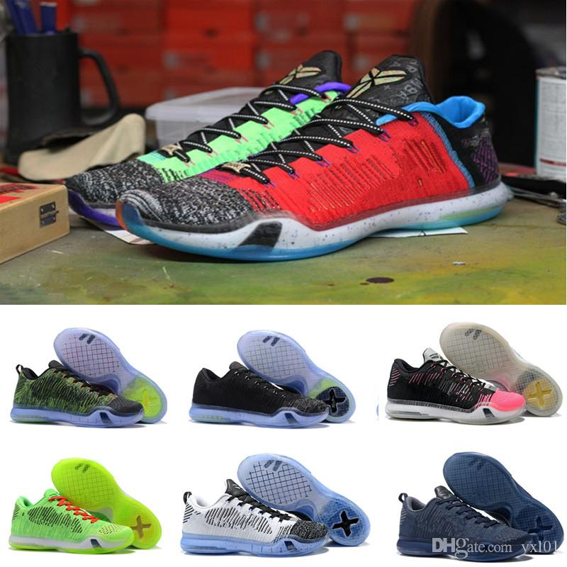 2018 Top Quality Kobe 10 Low Weaving Basketball Shoes For Mens What ...