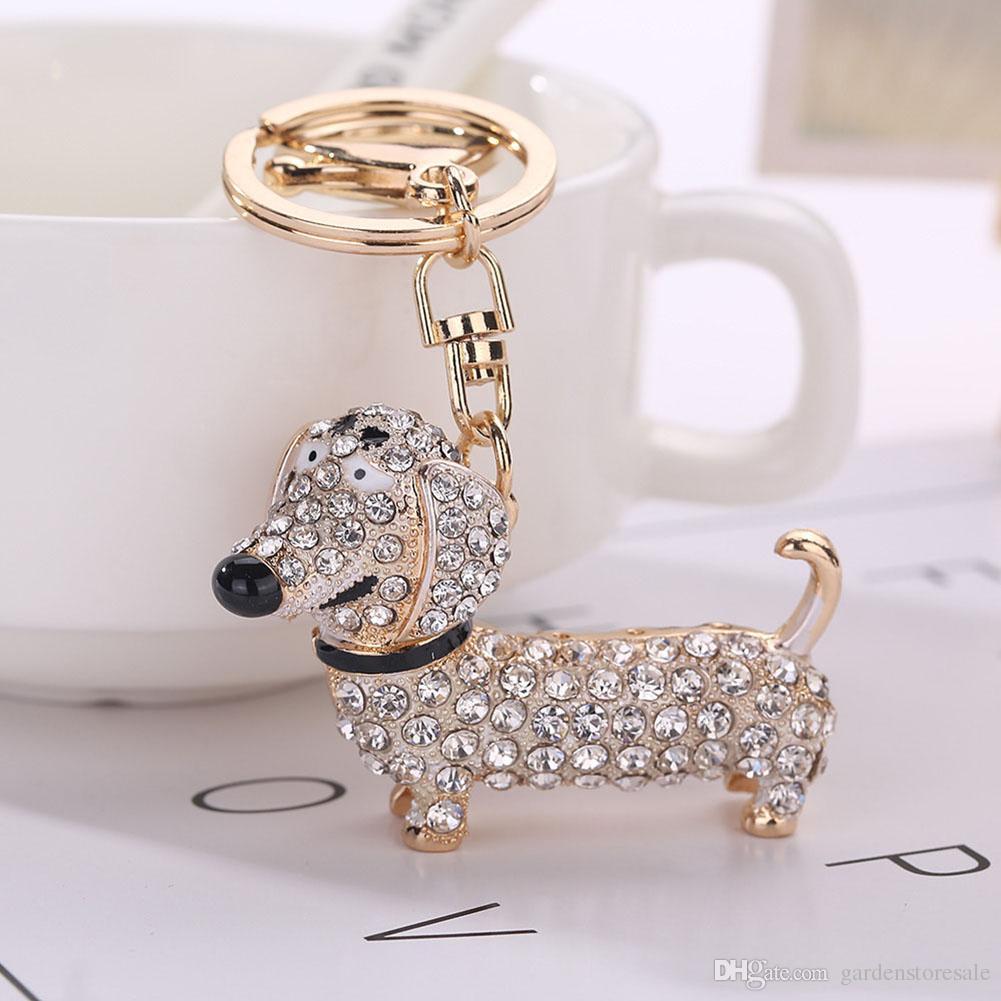 الأزياء الكلب الألماني المفاتيح حقيبة سحر قلادة مفاتيح حامل كيرينغ مجوهرات للنساء فتاة هدية المفاتيح مجوهرات جديدة