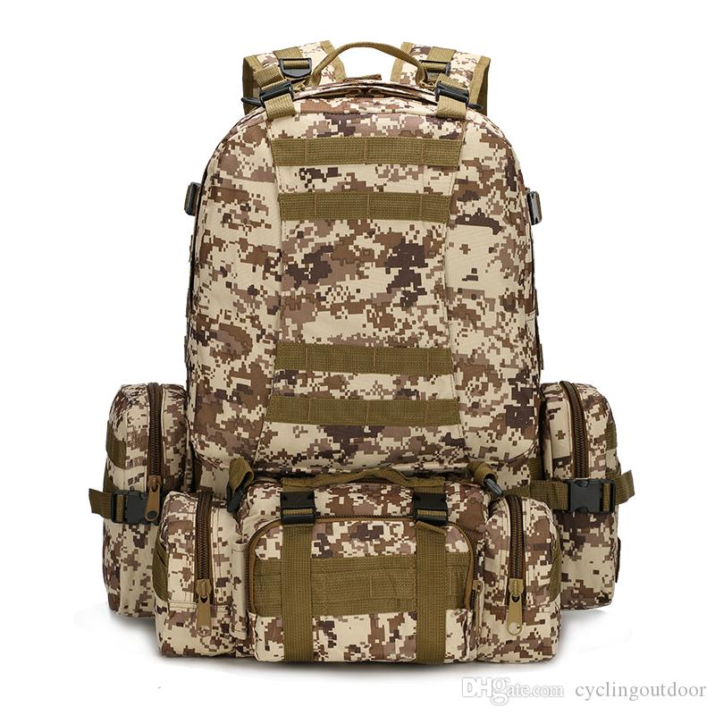 7874a2889901 2019 Outdoor Travel Bag MOLLE 1000D Waterproof And Cryptographic Nylon Pack  Army Tactical Camouflage Bag Large Capacity Hiking Bag From Cyclingoutdoor