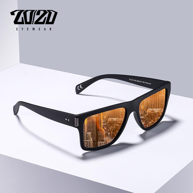 Compre 20 20 Marca Clássico Polarizada Condução Óculos De Sol Dos Homens  Quadrado Preto Armação Óculos Masculino Óculos De Sol Para Homens Oculos  Pl316 De ... 2e78c23e60