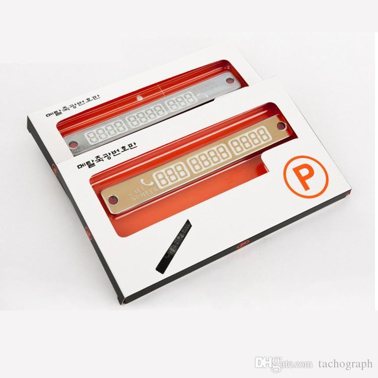 Permis de stationnement temporaire, carte de numéro de téléphone portable, personnalité créative, autocollant lumineux, accessoires intérieurs automobiles