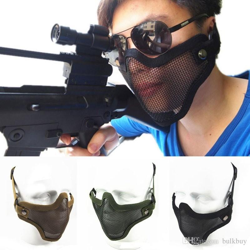 3 Farben Outdoor Streik Metall Mesh Camouflage Schützende Tactical Airsoft Armee Maske