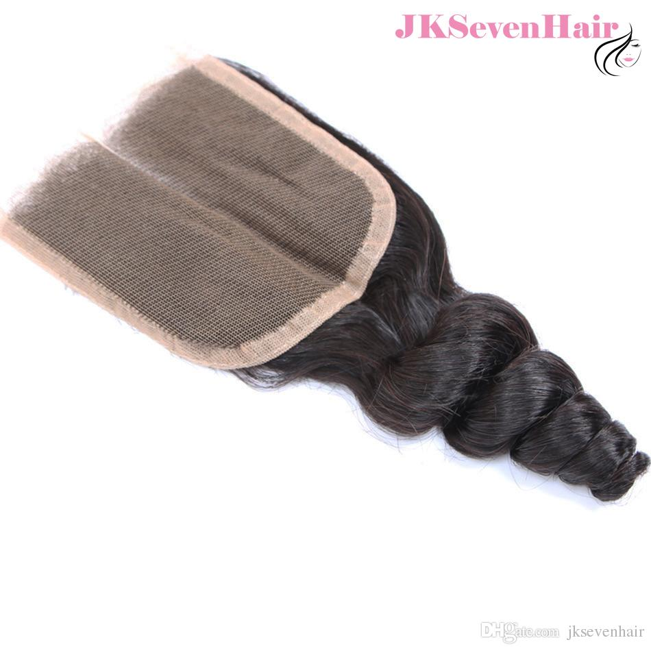 Malaysian Virgin Hair bundles with 4x4 Inch Closure 10A Grade Loose Wave Brazilian Indian Remy Hair Extensions With Free Part Closure