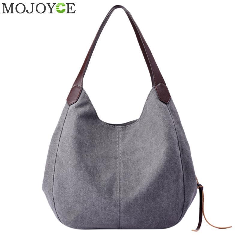 07647e6bce Vintage Women Canvas Shoulder Bag Hand Bags Ladies Casual Handbag Totes  Hobos Sling Shoulder Bags Bolsas Feminina 2018 Handbag Leather Satchel  Ladies Bags ...