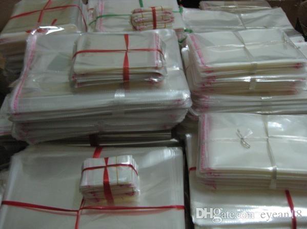 28 * 38 cm Trasparente Richiudibile Celofane / BOPP / Poli Sacchetti Trasparenti Opp Sacchetto Dell'imballaggio Sacchetti de Plastica Autoadesiv