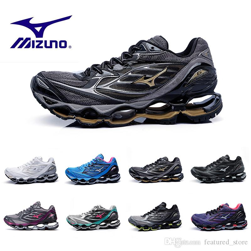 the latest b4d10 f7743 New Mizuno WAVE PROPHECY 6 Mens Designer Running Shoes for Men Hot  Authentic Sports Women Luxury Brand Casual Trainers Sneakers Shoes
