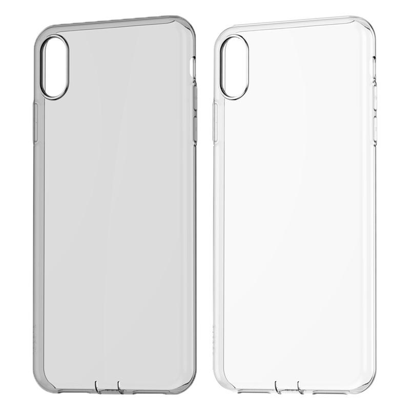 detailed pictures b555e c3e59 Baseus For iPhone XR Case Ultra Thin Clear Soft TPU Back Cover with  Dustproof Plug Phone Cases For iphone XS XS Max