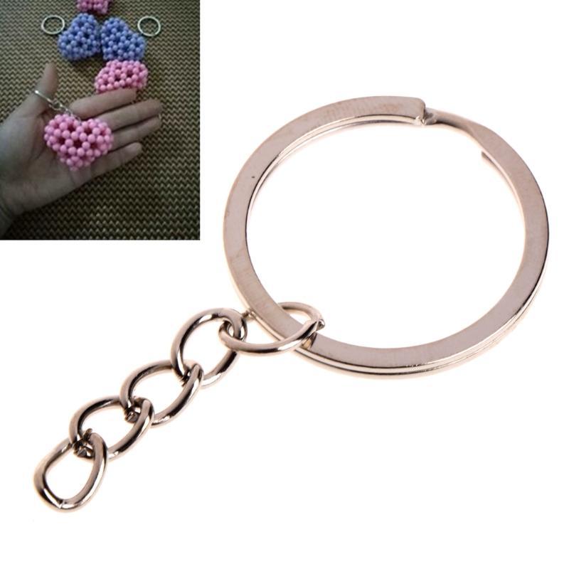 NEW Key Ring Stainless Steel Key Chain Portable Brief Hoop Metal Loop Outdoor