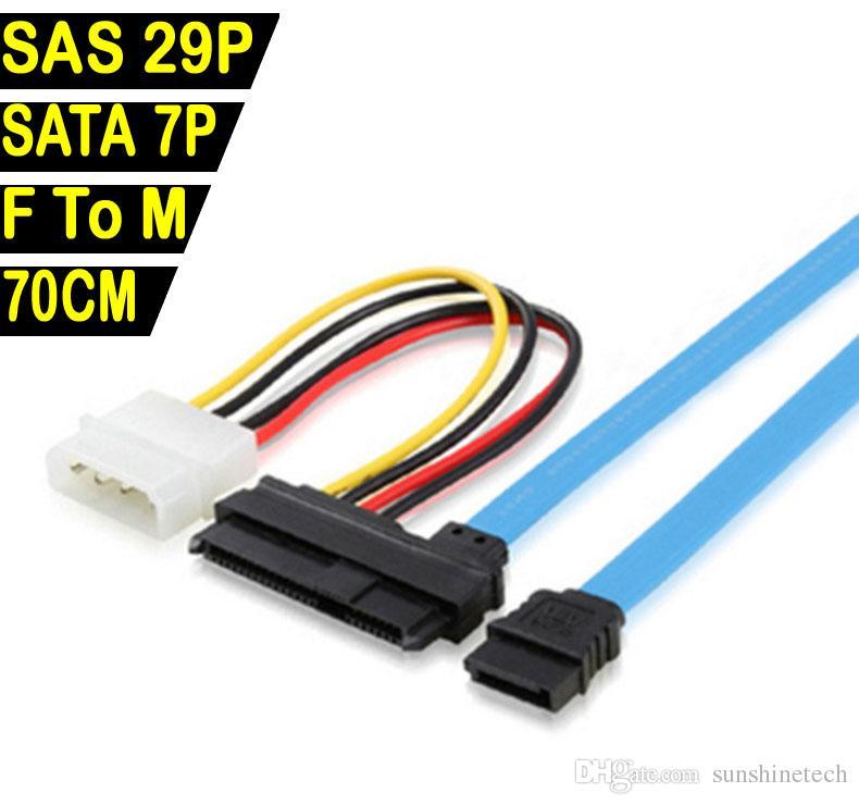 7 Pin Sata Serial Female Ata To Sas 29 Pin Connector Cable & 4 Pin ...