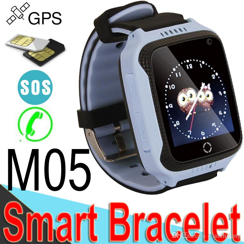 M05 Smart Watch for Baby Kids GPS Watch for Apple for Android Phone Smart  Children Watch Electronics Three Colors Available M7