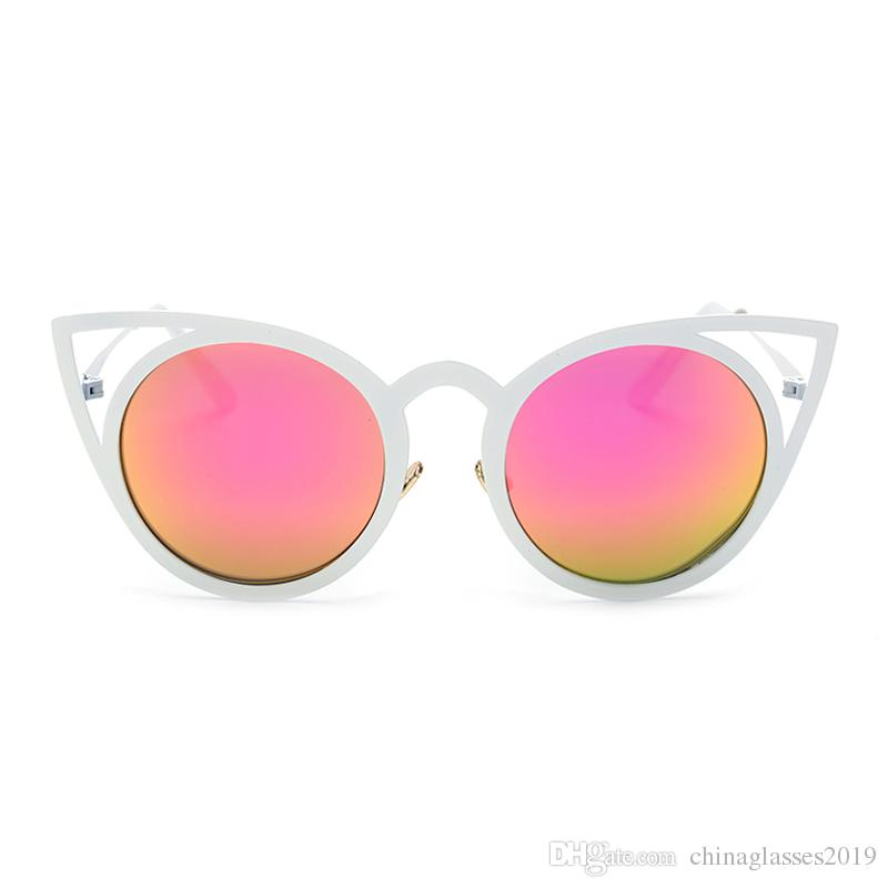 8ac67d2d86 2018 Round Sunglasses Women Oversized Pilot Sunglasses Men Black Red Yellow  Blue Frame Vintage Retro Sun Glasses Female Male NX Electric Sunglasses  Fastrack ...