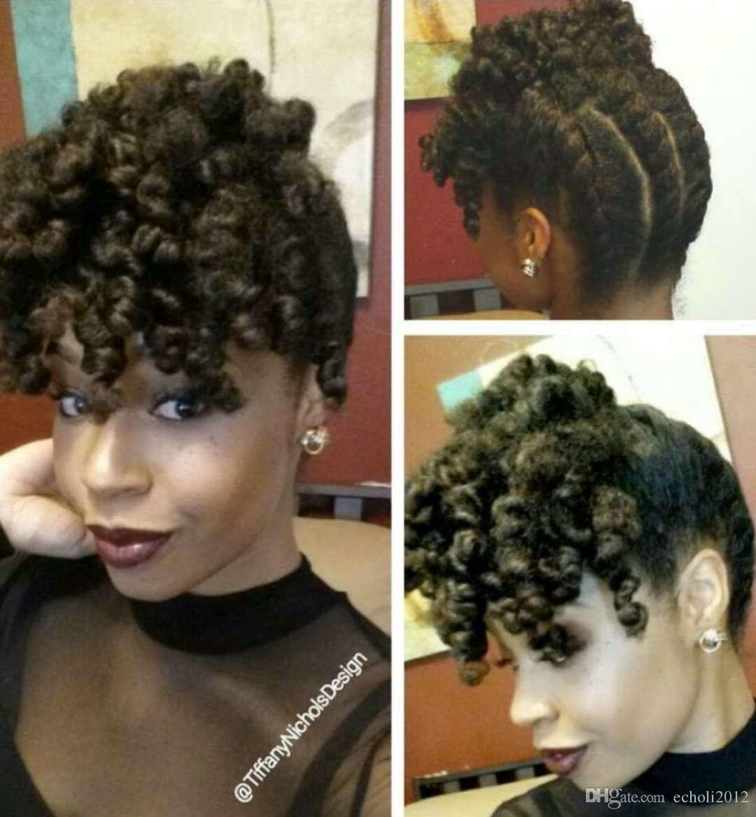 Short Curly Drawstring Ponytail Bang Fringe Hairpiece Clip