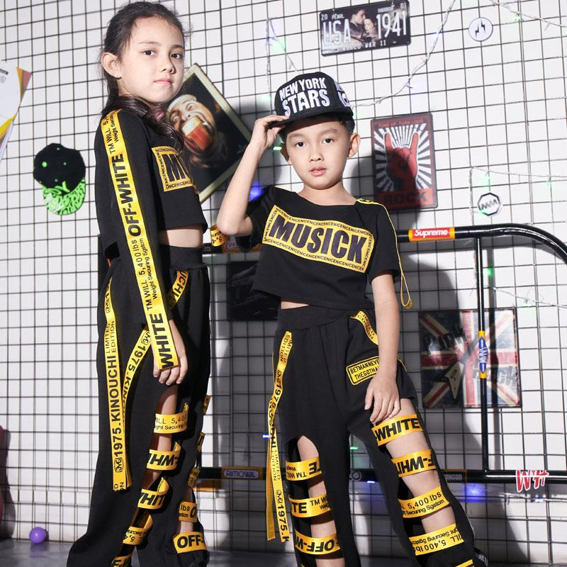 f061d102f 2019 2018 New Fashion Boys Jazz Dance Hip Hop Costume Girls Catwalk ...