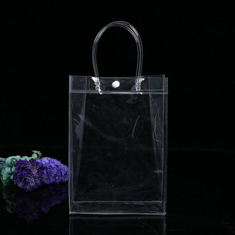 Misterolina Women Summer Beach Bag Clear PVC Transparent Bags Shoulder Waterproof Travel Shopping Bag Pouch Handbags