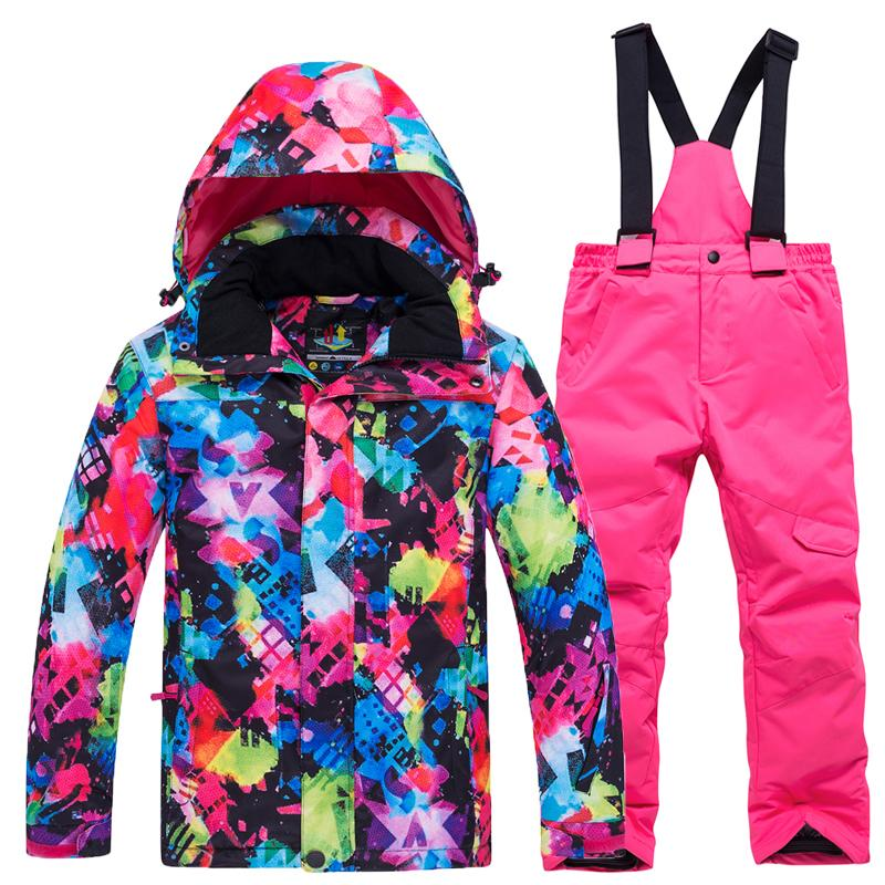 30003f921 Winter new children's ski suits outdoor ski jacket pants two sets of boys  and girls windproof waterproof warm clothes