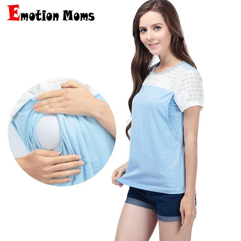 b417855eb37 2019 Emotion Moms Summer Maternity Clothes Nursing Breastfeeding Tops For Pregnant  Women Short Sleeve Maternity T Shirt Clothing From Fragranter