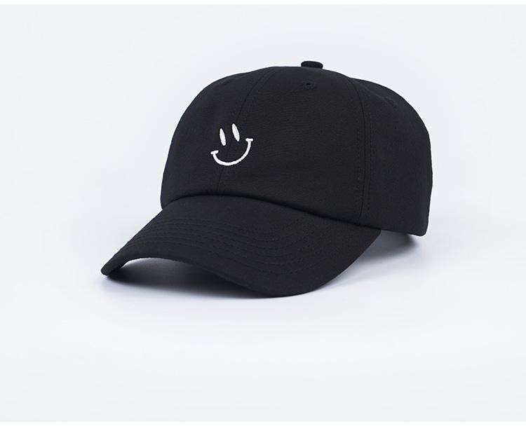 Mens And Womens Baseball Cap Smiley Face Embroidery Snapback ... 90238de67954