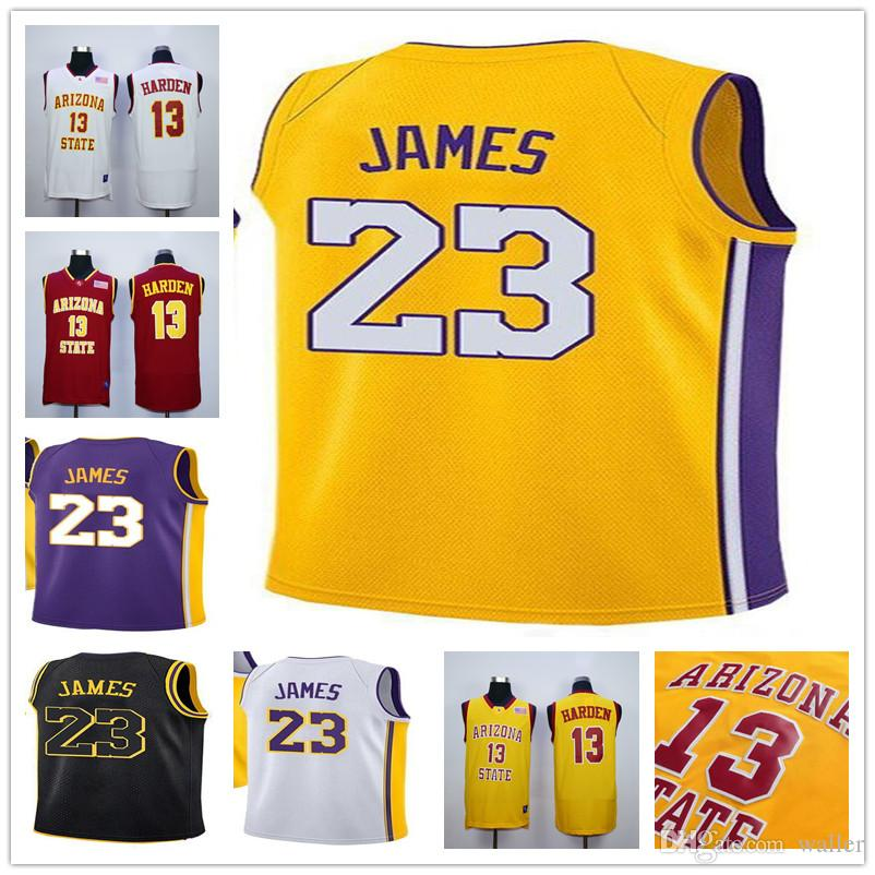 Mens 23 Lebron James Los Angeles Basketball Jerseys 13 James Harden