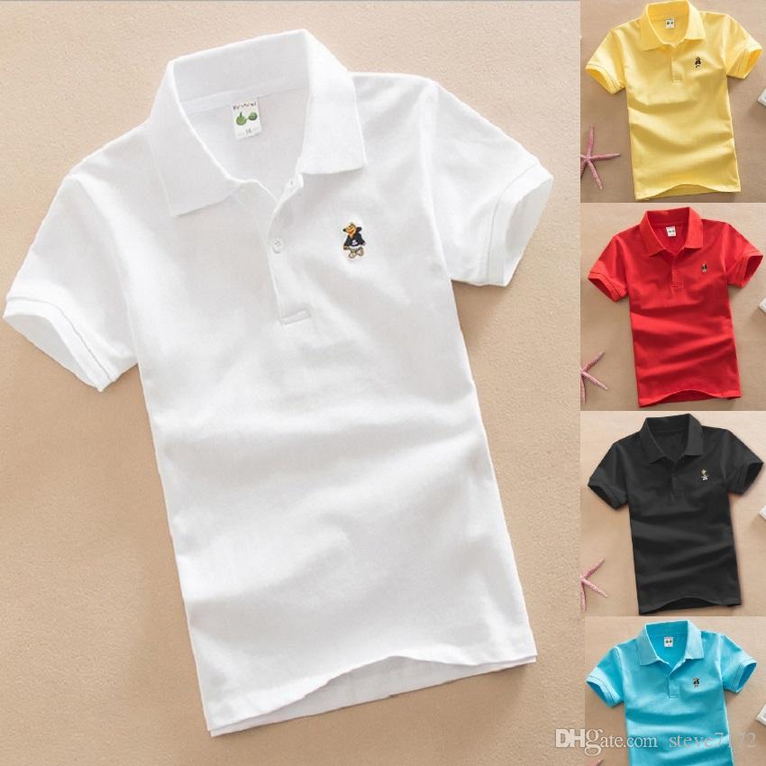 3f3f88e40 2019 Solid Fashion Boys Polo Shirts 3 15 Years Children Polo S Tops ...