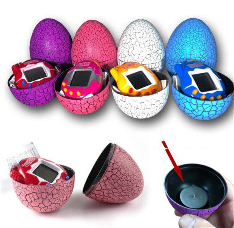 New Electronic Pets Dinosaur Egg Interactive Toys For Children Tamagotchi Tumbler Virtual Cyber Digital E-pet Handheld Game to373