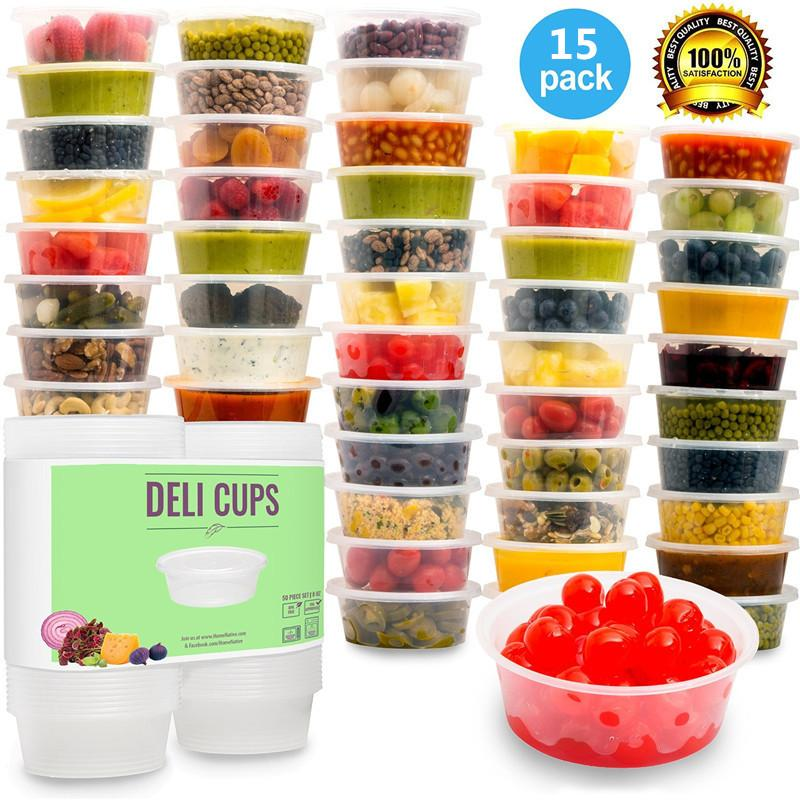 2018 Plastic Storage Containers With LidsBabyu0026Portion ControlKids Lunch Boxes Watertight / Leakproof Kitchen Set 8oz From Georgely $23.22 | Dhgate.Com  sc 1 st  DHgate.com : plastic storage cups  - Aquiesqueretaro.Com