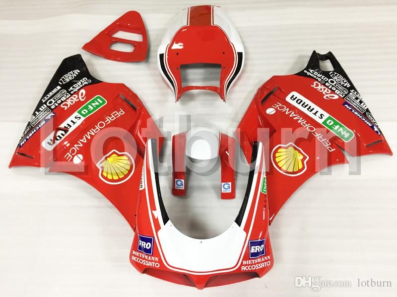 Moto Motorcycle Fairing Kit Fit For Ducati 748 916 996 998 1996-2002 96 - 02 ABS Plastic Fairings fairing-kit A503