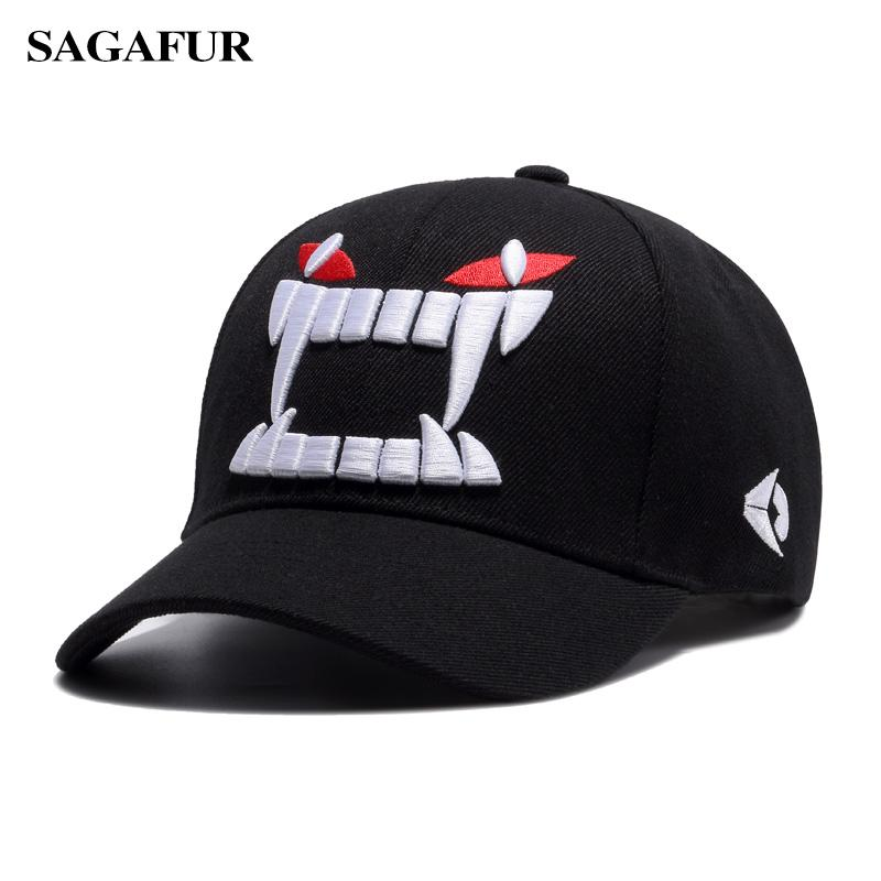 064a255fa6b SAGAFUR Embroidery Big Teeth Caps For Boy New Design Super Cool Summer  Baseball Hats Outdoor Men s Cap Sun Protection Beanies Kangol From Huazu