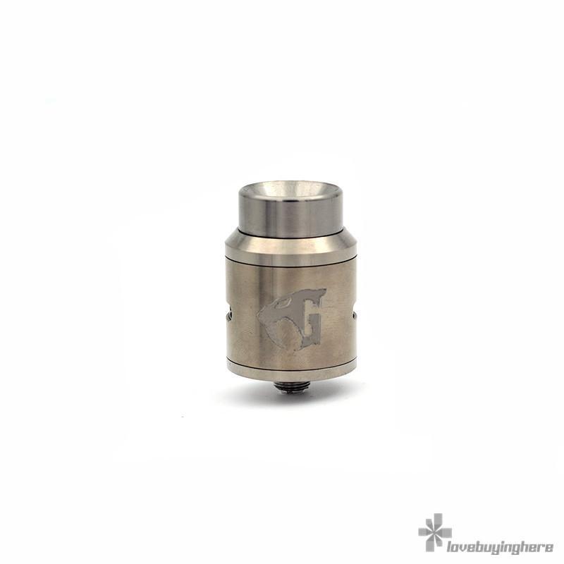 Titanium Goon V1.5 RDA 24mm Ecig Atomizer 528 Custom Vapes Silver-Plated Pin Goon RDA Ti Goon 1.5 RDA