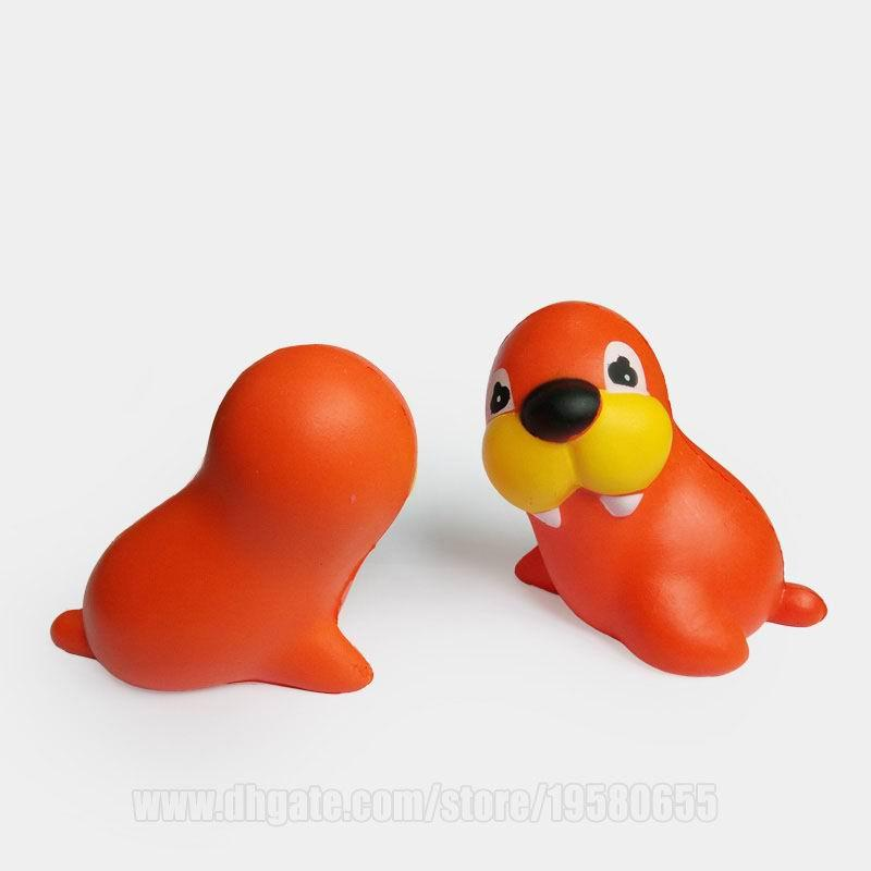 Squishy Animals Sea Lion Kawaii Squishies Toys Pretty Slow Rising Elephant Scented Squeeze DHL Free Shipping