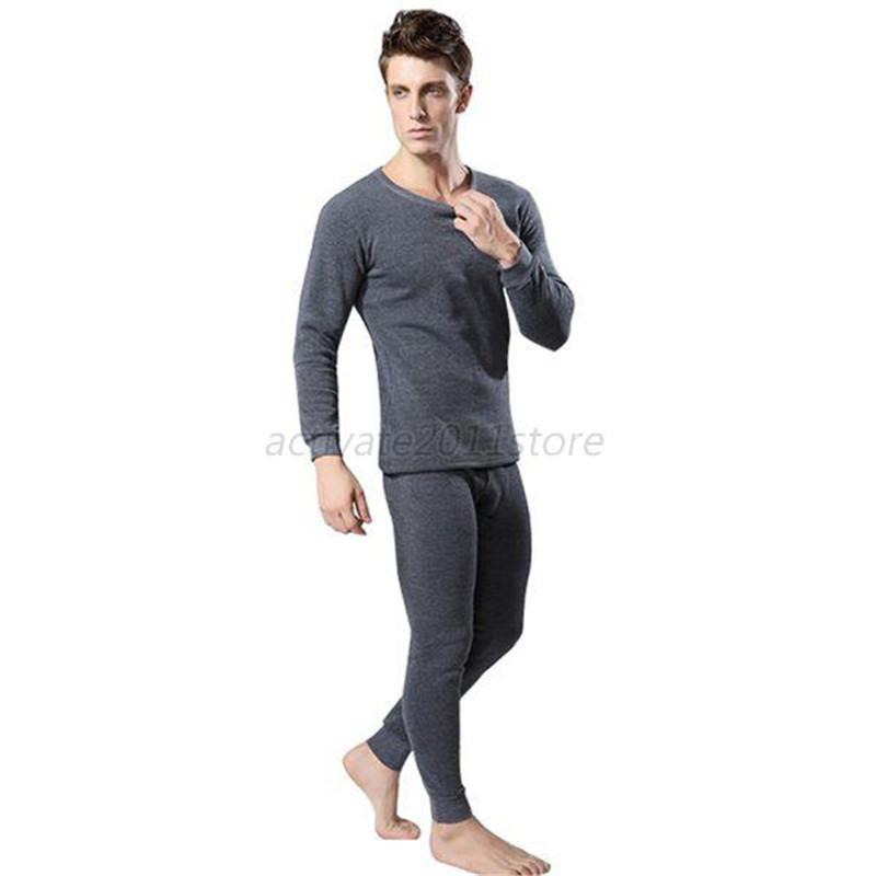 ca2e4e7d42e Men Cotton Thermal Underwear Set Winter Warm Thicken Long Johns Tops Bottom Thermal  Underwear Sets Long Johns Cotton Thermal Online with  34.22 Set on ...