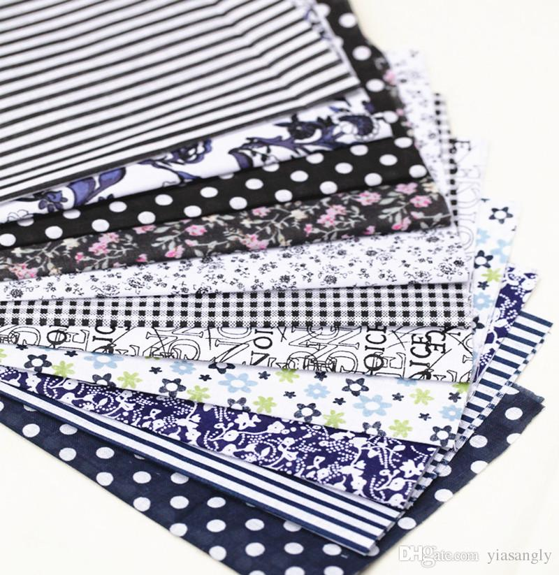 """4"""" x 4"""" Mixed Florals Dots Stripes Cotton Craft Fabric Cloth Bundle Squares Tissue Patchwork Sheet DIY Sewing Quilt"""