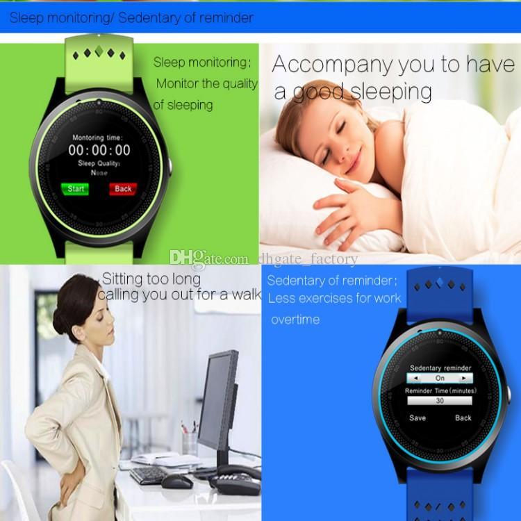 V9 ساعة ذكية V8 DZ09 U8 سامسونج الساعات الذكية الروبوت سيم ذكي ووتش الهاتف المحمول يمكن أن تسجل حالة النوم الذكية ساعة Passometer