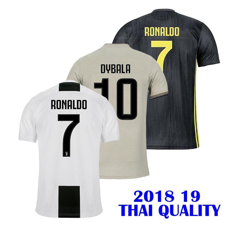 0f0da3db15e JUV Soccer Jersey Thailand Quality 7 RONALDO 2018 19 JUVE Home Away ...