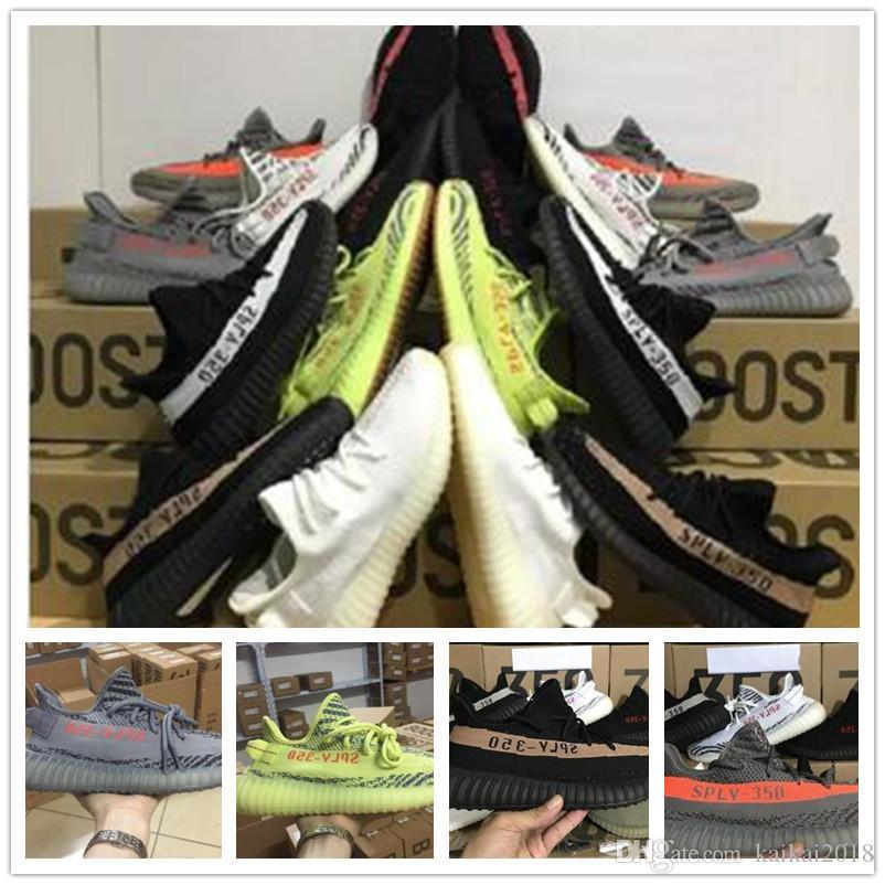 5e5004ad3 With Box SPLY 350 V2 Sneakers Semi Frozen Yellow Tint Zebra Cream ...