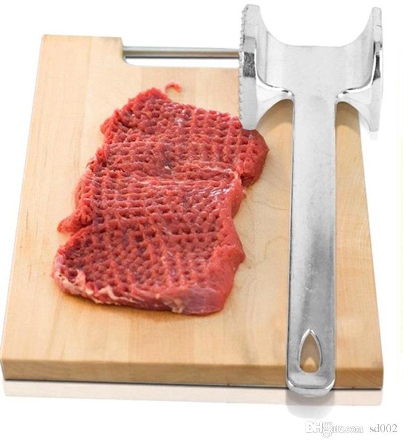 금속 알루미늄 고기 해머 Tenderizer 스테이크 쇠고기 돼지 고기 치킨 Mallet 주방 도구 고품질 6jh C R
