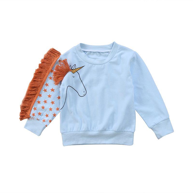c5c01e83a5 Boutique Baby Kids Clothing Toddler Baby Girl Boys Clothes Cartoon Unicorn T  Shirt Sweatshirt Warm Long Sleeve Hoodies Children Cotton Tops UK 2019 From  ...