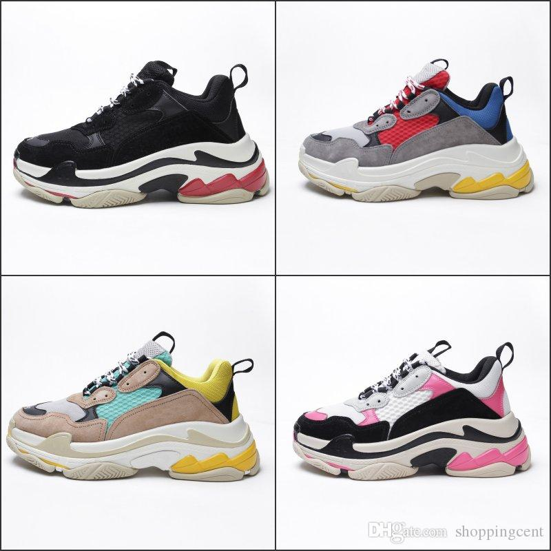 425a457f949 Cheap Paris Triple S Designer 2018 New Arrival Luxury Shoes Low Best  Sneakers Men Womenbottom Combination Sports Trainers Shoes Running Shop  Sneakers Sale ...