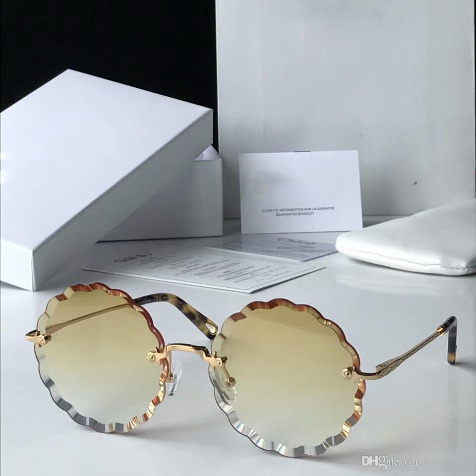 b3126874a202d Compre Nova Designer De Moda Modelo De Óculos De Sol Das Mulheres CE142S  Sem Moldura Com Lentes De Corte Claro Claro Colorido Lente Ultra Leve Óculos  Com ...