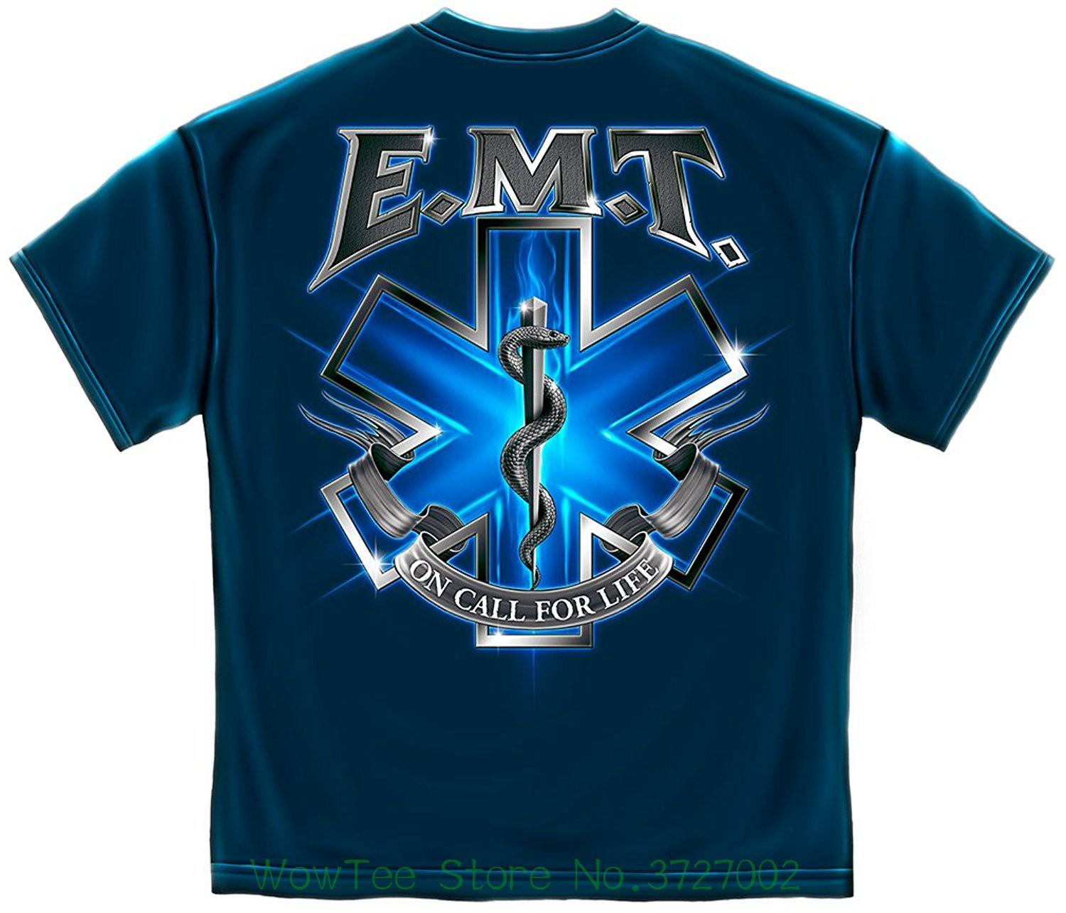 fac504455 100% Cotton On Call For Life Emt T-shirt Men's High Quality Custom Printed  Tops Hipster Tees