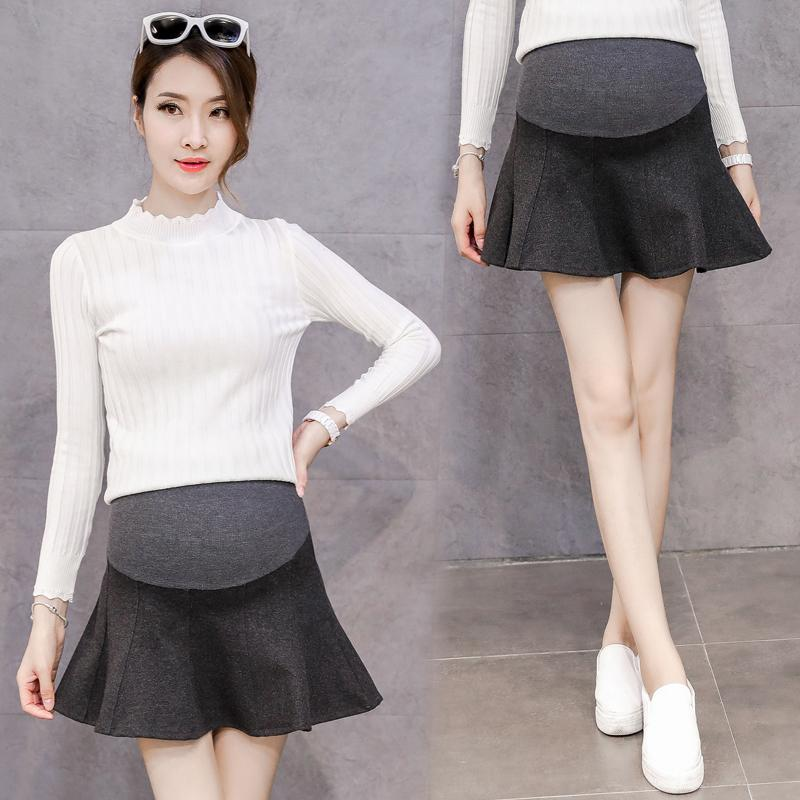 b85b13d16148c Sexy Mini Skirts For Maternity Women Autumn Winter Korean Fashion Clothes  For Pregnant Women Pregnancy Belly Bottoms Canada 2019 From Mingway245, ...