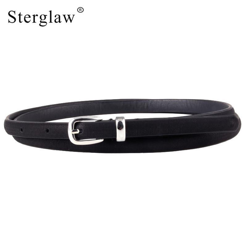 453df38f0 Summer New Arrive Ladies Belts Women Black Thin Leather Belt For Women  Jeans Belt Female Belts Waist Ceinture N105 Police Belt Nocona Belts From  Alley66, ...