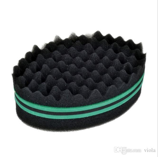 Magic Double Head Sponge Men Barber Hair Brush Black Dreads Locking Afro Twist Curl Coil Brush Hair Styling Tools Hair Care
