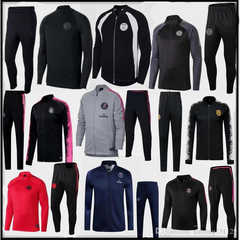 88d8b226c35 2019 2018 2019 New Men Psg Soccer Training Suit Jersey 18 19 Champions  League Paris Coat CAVANI MBAPPE Tracksuit Set Football Jacket Kit Maillots  From ...