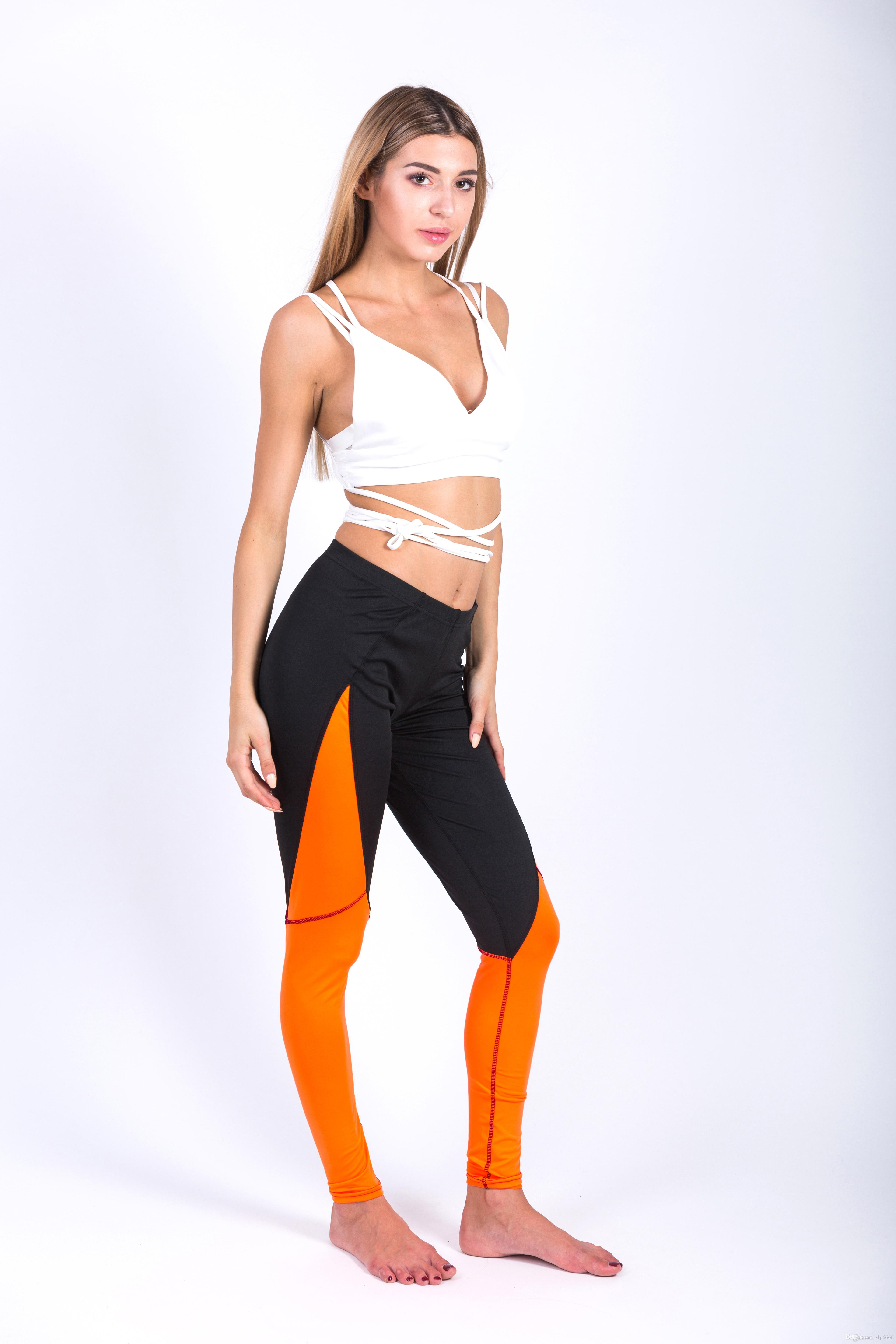 2018 Hot Style WomenS Stitching Together Sexy Yoga Body Speed Dry Sports Pants Outdoor Leggings Girl From Xlp6666 1002