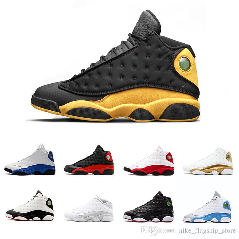 6ac85ac7ca5fdc 2018 New 13 13s Mens Basketball Shoes Hyper Royal Ray Allen Italy Blue  Bordeaux Flints Chicago Bred DMP Wheat Men Sports Sneakers Shoes Jordans  Running ...